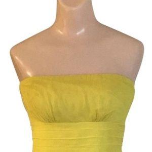 Yellow Formal Silk Chiffon Dress